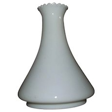 "Early ""Angle Lamp"" Milk White Glass Chimney !"