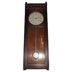 E. Howard & Co. #58 Wall Regulator Clock in Walnut Case Circa 1880  !!!