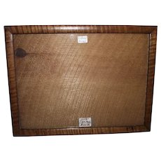 """Rare """"Solid Tiger Maple"""" 8 by 10 3/4 inch Picture Frame Circa 1880 - 1900 ! Great for matting an 8 X 10 photo."""