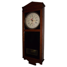 "Elverson,Pa. Country Store Clock ""Landau"" Model made by ""E. Ingraham Clock Co."""