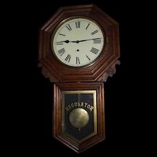 "Pristine Oak ""8 Day Bank Regulator"" Model Long Drop Regulator made by the New Haven Clock Co. Circa 1912 !!!"
