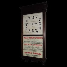 Pennsylvania  Clock with 4 Business Advertisements Circa 1923 !!!