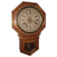 "Original ""Eavenson's * Naptha - Borax"" General Store Regulator Clock Advertising ""No Rosins * No Chemicals"" Circa 1915 !!!"