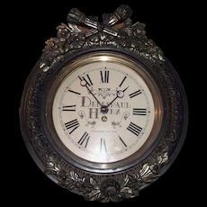 "Authentic French ""Delespaul Havez Chocolate"" Gallery Advertising Clock Circa 1940 !!!"