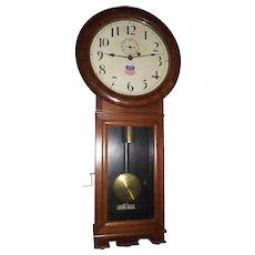 "Early ""Union Pacific"" Railway Seth Thomas #2 Regulator Clock with 3 Piece Bottom in a Pristine Walnut Case circa 1913  !!!"