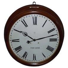 "Super Rare 24 inch Dial ""Pennsylvania Railroad Station Clock"" with 30 Day Seth Thomas Movement and a 32 inch Deluxe Walnut Case Circa 1905 !!!"