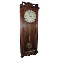 """Massive 69 inch Long """"National Bank of Philadelphia"""" Regulator in a Rare Uncatalogued Seth Thomas Oak Case Circa 1890 !!!"""