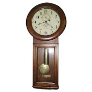 "Rare ""Reading Lines"" Railroad Clock made by Seth Thomas #2 Regulator, in Excellent Golden Oak Case !!!"