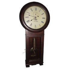 "Early ""Baltimore & Ohio Railroad"" Seth Thomas #2 Regulator Clock  in a Very Fine Mahogany Case with a 3 Piece Bottom Circa 1917 !!!"