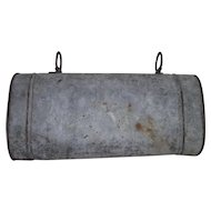 """Saddle Ring Metal """"Document Carrier"""" from Jack Palance Collection ! Circa 1900's."""