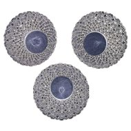 "Rare Matching Set of 3  ""Buttons & Bows"" Pattern Hanging Light Shades !!!"