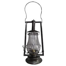 "HAM ""Clipper"" Hand Lantern with Original Marked Globe !"