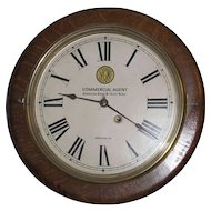 """Virginia Railway""  Oak Gallery Clock made by the ""Seth Thomas Clock Co."" circa 1924 !"