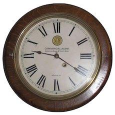 """Virginia Railway""  Oak Gallery Clock made by the ""Seth Thomas Clock Co."" circa 1924 !"