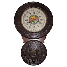 """Baird """"Saranac"""" Model Wall Clock later Converted to a """"Pepsi-Cola"""" Advertiser with Calendar Date  !!!"""