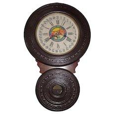 "Baird ""Saranac"" Model Wall Clock converted to a ""Pepsi-Cola"" Advertiser with Calendar Date  !!!"