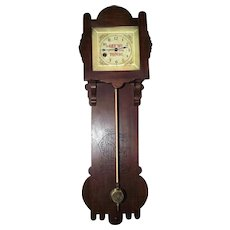 "Rare ""Reed's Gilt Edge Tonic"" 8 Day Advertising Wall Clock in a Walnut Case is Circa 1870's  !!!"