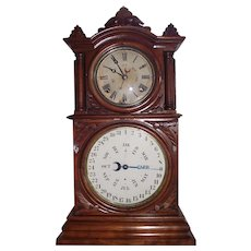 "Rare ""Ingraham Calendar"" model Shelf Clock with Lewis Patented Calendar in a Fine Walnut Case !!!"