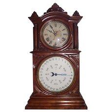 "Rare ""Ingraham Calendar"" model Shelf Clock with Lewis Patented Calendar in a Fine Walnut Case !!!"