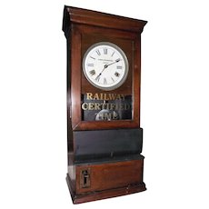 """Baltimore & Ohio Railroad Company"" Employee Time-Stamp Clock from the ""Jessup Station,MD.""  !!!"