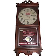 """Authentic """"Dr. Pepper"""" Soda Advertising Store Regulator with Calendar Date made by Seth Thomas Clock Co. Circa 1925 !!!"""