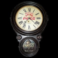 "Rare Coca-Cola ""Atlantic Bottling Company"" Advertising Figure 8 Clock from the Atlantic,Iowa Plant circa 1929  !!!"