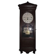 """Pittsburgh & Lake Erie Railroad * The Little Giant"" Time Recorder Clock Circa 1890 !!!"