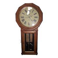 "Rare ""Baltimore & Ohio Railroad Clock"" in a Seth Thomas # 3 Regulator with Flat Bottom Oak Case !!! Circa 1884 to 1890."