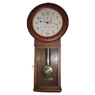 "Authentic ""Pennsylvania Railroad"" Seth Thomas #2 Regulator Wall Clock in a Golden Oak Case Circa 1929 to 1945 !!!"
