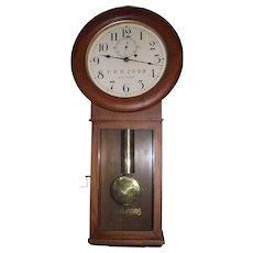 "Authentic ""Pennsylvania Railroad"" Seth Thomas #2 Regulator Wall Clock in a Golden Oak Case Circa 1929 to 1945 !!!"