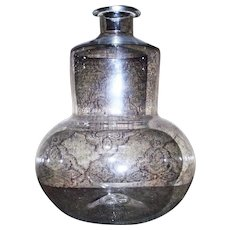 Colorless Glass Blower's Fantastic Whimsy Bottle circa 1860 !!!