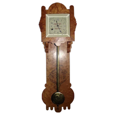 "Rarest of the ""Reed's Gilt Edge Tonic"" 8 Day Advertising Wall Clock in a Birdseye Maple Case Circa 1870's !!!"