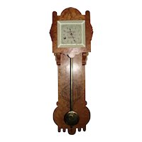"""Rarest of the """"Reed's Gilt Edge Tonic"""" 8 Day Advertising Wall Clock in a Birdseye Maple Case Circa 1870's !!!"""