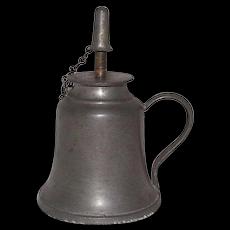 Pewter Sparking Lamp with Original Adjustable Burner Tubes Circa 1850 !!!