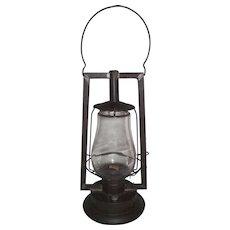 "Rare Pre WW-1 ""Steam Gauge & Lantern Co. Royal No. 1. B."" Lantern with Square Tubular Frame and Colorless Glass Globe Circa 1876 to 1881 !"