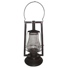 "Rare Pre WW-1 ""Steam Gauge & Lantern Co. Royal No. 1. B."" Lantern with Square Tubular Frame and Colorless Glass Globe Circa 1876 to 1881 !"