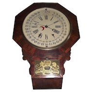 Rare Gilbert Wall Clock with Maranville Patented 1861 Calendar Dial !!!