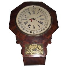 Rare Gilbert Wall Clock with Maranville Patented 1861 Calendar Dial !!!