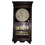 "Store Regulator ""Dr. Blumer's Baking Powder "" Advertiser Clock Circa 1920's !!!"