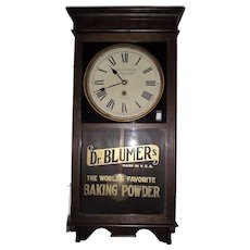 "Rare ""Dr. Blumer's Baking Powder "" Advertiser Clock Circa 1920's !!!"