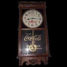 "Combination Advertiser ""Coca-Cola & Woolworth's"" Store  Clock Circa 1920's !!!"