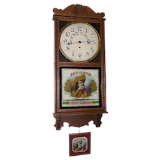 """Dick Custer"" Cigar Store Advertising Clock made by  Circa 1910's to 1920's !!!"