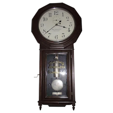 """AUTHENTIC """"Webb C. Ball Co. Jeweler's Regulator / Seth Thomas Model No. 3 """" in a Rosewood Case with Nickel Plated Hardware Upgrade Circa 1890 !!!"""