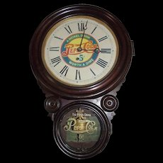 "Rare ""Pepsi-Cola""  Figure 8 Clock with 5 Cent Advertising Dial & Glass circa 1920 !!!"