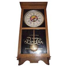 "Advertising ""Pepsi Cola"" Standard Store Regulator with Time & Calendar Date made Circa 1925 !!!"