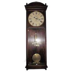 "Authentic ""Baltimore & Ohio Railroad"" Seth Thomas Model No. 20 Regulator with a 62 inch long Original Mahogany Case circa 1910 !!!"