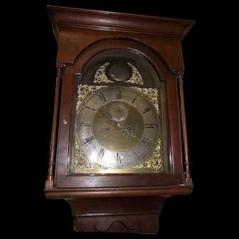 "Pennsylvania Solid Cherry Flat-Top Tall Case Clock with ""Robert Bryson & Sons * Edinberg"" Famous Scottish Clock Movement Circa 1846 !!!"