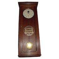 "Authentic ""Chicago,Rock Island, and Pacific Railway"" E. Howard*Boston Model No. 89 Regulator in a Solid Oak Case circa 1910 !!!"