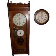 "Massive ""Virginian Railway""  E. Howard Model No. 89 ""Watch Clock"" Regulator in an Early Oak Case circa 1907 !!!"