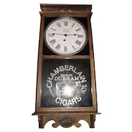"General Store Advertiser Clock marked ""Chamberlain Cigars"" Oak Case Clock Circa 1920's !!!"